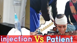 INJECTION VS PATIENT By Oh ho Boys|| 💉 ||Desi doctor desi Mareez