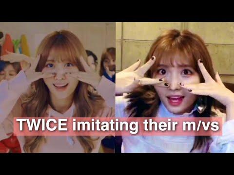 TWICE imitating their music videos