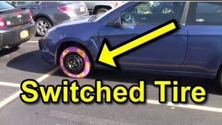 Funny Pranks : Tire Switcheroo Prank