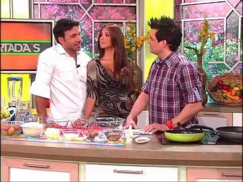 Receta Yuvanna Montalvo y Juan Carlos García preparan panquecas dieteticas 17 01 2012