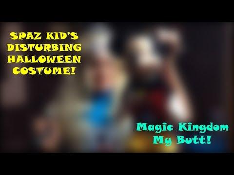 Xxx Mp4 Spaz Kid S Creepy Disturbed Halloween Costume Magic Kingdom My Butt 3gp Sex