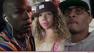 Floyd Mayweather Flexes on T.I. with a $100 mil Check & leaks Vid w/ Tiny after He Laughs at him.