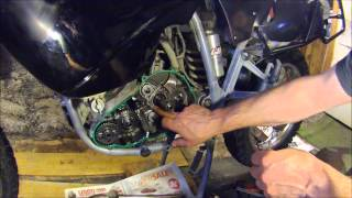 Repair on KTM 640 mainshaft bearing slip.wmv