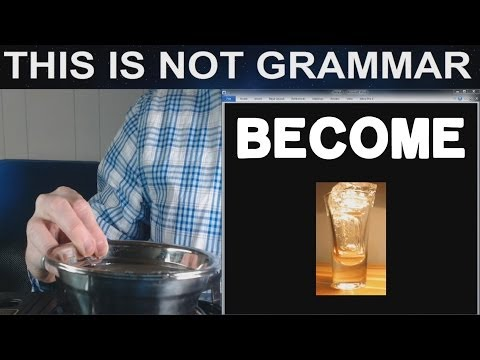 Become Becomes TO BE verb TO BECOME verb Basic English Grammar Irregular Verb Become Became