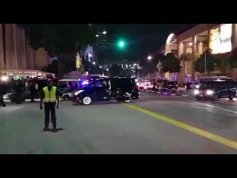 Kim Jong Un's motorcade arriving at MBS