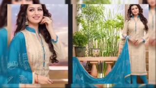 Latest Salwar Kameez Chanderi Suits Collection 2016~latest fashion in pakistan winter collection