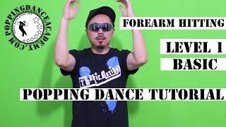 popping dance tutorial | forearm hitting | basic popping