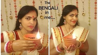 My first Get Ready with me diy :) - Simple traditional Bengali makeover for Durga Puja