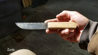 Homemade knife from a sawzall blade - DIY