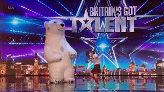 Britain's Got Talent 2016 S10E05 Vadik The Kilted Talking Mime Dance Fights Polar Bear Full Audition