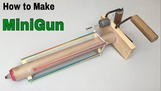 How to Make an Electric MiniGun that shoots Rubber Bands - Machine gun Tutorial
