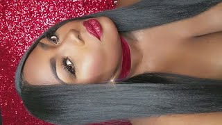 Naomi Campbell VMA  (GLITTER LIPS) 2016 Makeup Colab with  iNdea. R