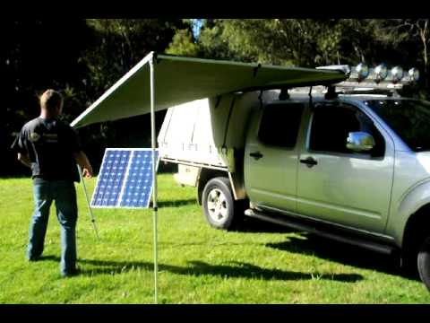 Aussie Outdoor set up of 2.5m Pull Out Awning