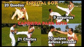 60 movimentos de capoeira defesa pessoal (51 Golpes e 9 esquivas) - Especial 60K C.Mestre Koioty
