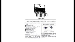 TDA7294 100 Watt Audio Amplifier IC