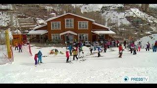 Iran Women sport, Darbandsar ski resort ورزش بانوان پيست اسكي دربندسر تهران ايران