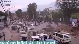 Live earthquake footage from opposite Kathmandu mall