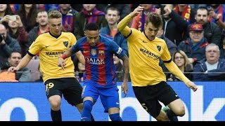 Neymar vs Málaga - Sem MESSI da Show de MELHORES MOMENTOS