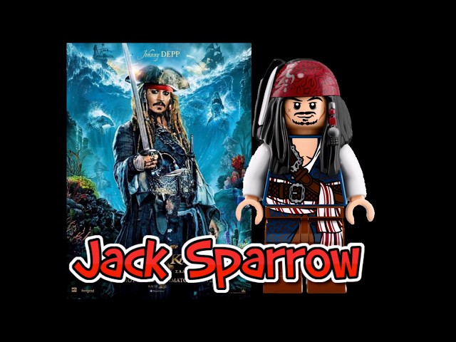 REAL CHARACTERS VS LEGO PIRATES OF THE CARIBBEAN DEAD MEN TELL NO TALES COMPARISON VIDEO