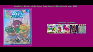 Barney's Big Surprise Super Rare 2001 VHS Opening & Closing