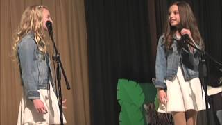 Ava and Mirabella Win Talent Show Singing Acapella