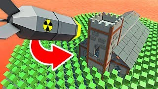 DROPPING A NUKE ON THE ZOMBIE CHURCH IN Ancient Warfare 3 (Ancient Warfare 3 Funny Gameplay)