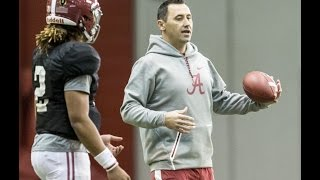 Steve Sarkisian blitzes Alabama quarterbacks