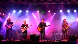 The Edge band from Pokhara performs in Sikkim