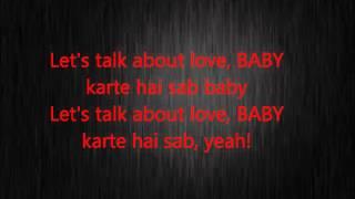 Hindi song Let's talk about love lyrics/Tiger shroff/ Shraddha Kapor