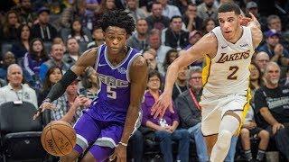 Lonzo Ball vs De'Aaron Fox NBA! Rookie Showdown Lakers vs Kings 2017-18 Season