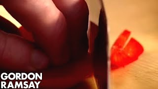 How to Cut A Bell Pepper - Gordon Ramsay