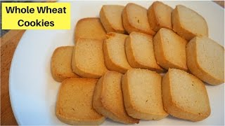 How to make Whole wheat cookies | Atta Biscuit Recipe | Healthy Cookies