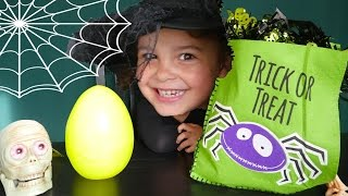Surprise Halloween Bucket Bag Trick or Treet Helloween 2015 with Surprise Eggs and Blind Bags! Toys