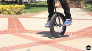 One man, one wheel