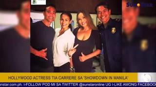 Hollywood Actress Tia Carrere sa 'Showdown in Manila'