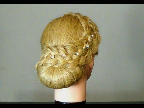 Свадеб� ая прическа с плете� ием. Braided wedding hairstyle for long hair