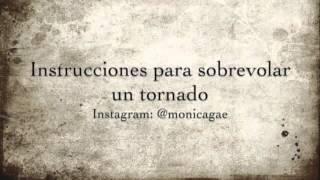 Mónica Gae - Instrucciones para sobrevolar un tornado.