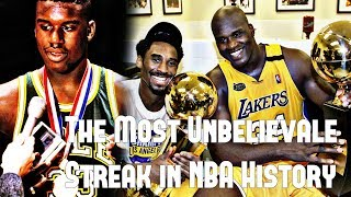 The Most Unbelievable Streak in NBA History Involving Shaq and 33 Championship Teams