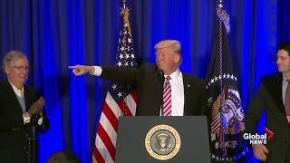 President Donald Trump full speech to Republican retreat