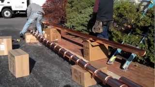 Working with copper gutters