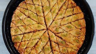Baklava طرز تهیه باقلوای اصیل ترکیه ای از تهیه خمیر باقلوا تا تمامی فوت و فنها و نکات