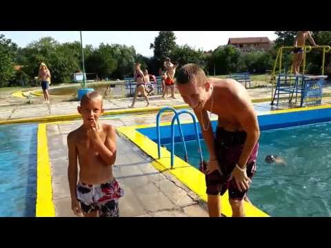 Skakanje u bazen Ada Breza Jumping into the pool Ada Breza Challenge Best Fails