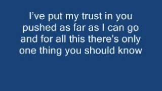 Linkin Park-In The End Lyrics ---BETTER VERSION---