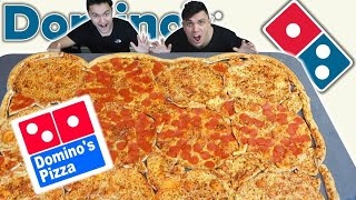 ORDERING THE WORLD'S BIGGEST DOMINOS PIZZA (200,000+ CALORIES)