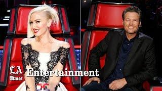 Watch Gwen Stefani & Blake Shelton flirt on 'The Voice' as Adam Levine and Pharrell react