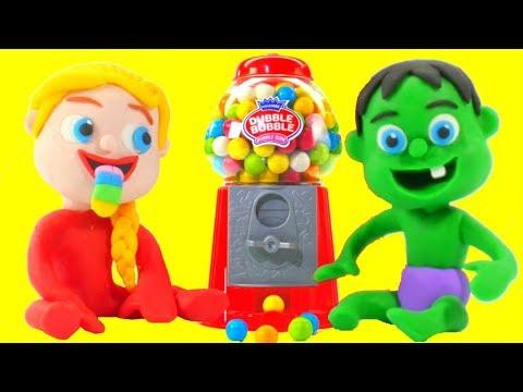 Xxx Mp4 SUPERHERO BABIES GUMBALL MACHINE ❤ Superhero Frozen Play Doh Cartoons For Kids 3gp Sex