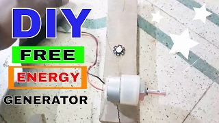 How to make a Free Energy Generator | Free Energy LED LIGHT