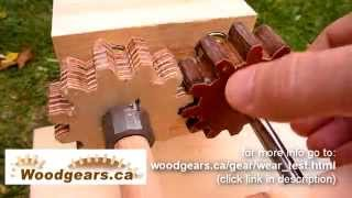 Wooden gear wear test