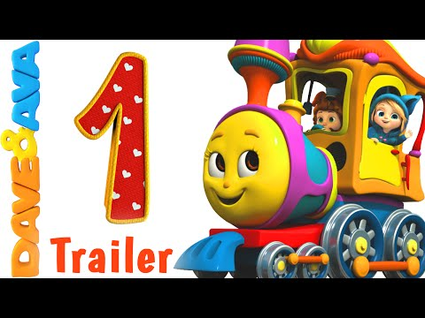 Number Train Trailer Nursery Rhymes and Baby Songs from Dave and Ava