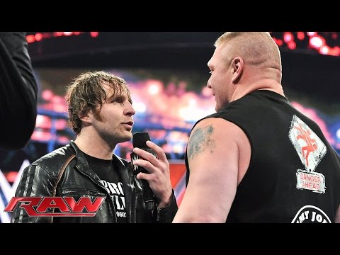 Dean Ambrose wants Brock Lesnar to take him to Suplex City Raw February 1 2016